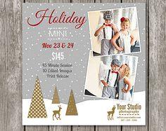 Holiday Mini Session Marketing Board - Christmas Mini Sessions - Mini Session Template for Photographers - Christmas Mini Flyer - MS14