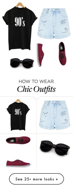 """90's Chick"" by shadowwings on Polyvore featuring New Look and Vans"