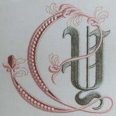 Fleur de Lis Alphabet- Y