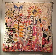 Kirkland Museum/ hooked rug by Edward Marecak. He bought wool sweaters from thrift stores and then had his two sons unravel them for the rug. (1958)