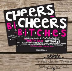 Printable Birthday Party Invitations  Girls Night by TeAmoCharlie, $14.00