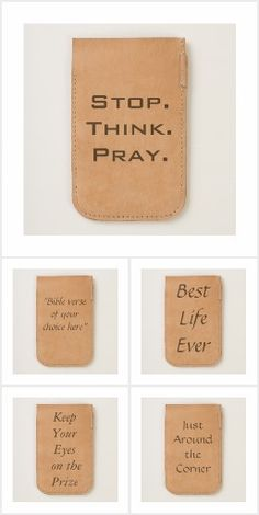 Inspirational Leather Phone Pouches Like the inspirational phrases and ideas behind these phone pouches?  Check out my wide variety of encouraging products at Bipolar Mom Designs.  There are uplifting and funny gifts in all price ranges for all different kinds of recipients.  https://www.zazzle.com/bipolarmomdesigns?rf=238271942843269131