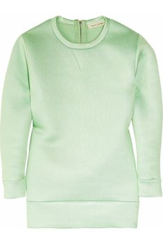 As a matter of fact I WOULD like a mint green, satin, Marc Jacobs sweatshirt. #amazing
