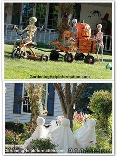 Hilarious Skeleton Decorations For Your Yard on Halloween - Kid Friendly Things…
