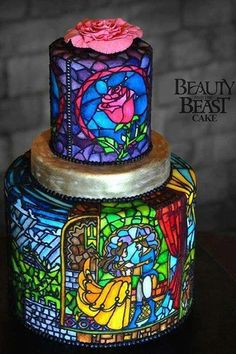 New cake beautiful and the beast disney cakes beauty and the beast ideas Crazy Cakes, Fancy Cakes, Cute Cakes, Pretty Cakes, Pink Cakes, Unique Cakes, Creative Cakes, Creative Wedding Cakes, Gorgeous Cakes