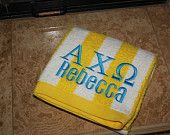 Personalized Monogramed Stripped Beach Towels - 6 Color Options - Fast Shipping #EasyNip