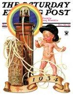 New Year Tickertape J.C. Leyendecker December 30, 1933