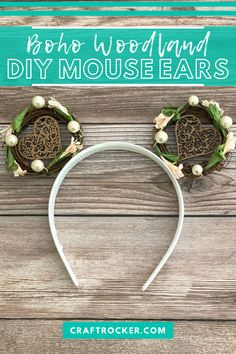 Easily make your own DIY mouse ears in the Boho woodland style you love with this super quick step-by-step tutorial! Check it here today! #diy #mouseears #bohostyle #bohomouseears #craftrocker