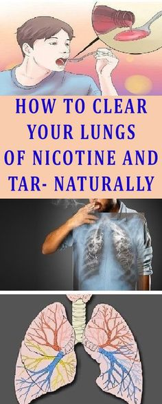 HOW TO CLEAR YOUR LUNGS OF NICOTINE AND TAR- NATURALLY!