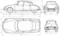 Sketchbook historic cars Pictures: Il figurino di un capolavoro - Citroen DS