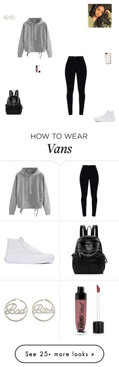"""""""bad"""" by synclairel on Polyvore featuring WithChic, Vans, me you, Wet n Wild, Winter, cute, casual and ootd"""