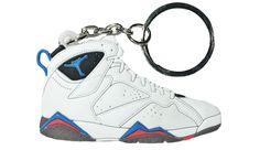 "Nike Jordan 7 VII White Blue Red ""Orion Blue"" 2D Flat Keychain"