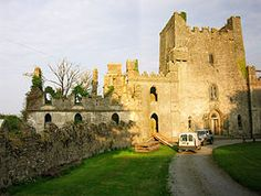 Leap Castle in Ireland.  One of the most haunted castles in Ireland.  It has an amazing history!  At one point wheelbarrows of bones were carted out of a pit in the castle