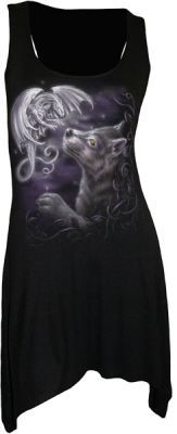 Spiral - Mystical Encounters - Goth Bottom Viscose Vest Top