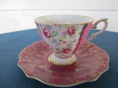 Vintage Mismatched Floral China Tea Cup And Saucer by BitofHope