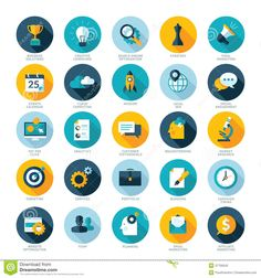 set-flat-design-icons-business-seo-soc-modern-37756542.jpg (1300×1390)