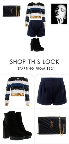 """""""Sans titre #7224"""" by ghilini-l-roquecoquille ❤ liked on Polyvore featuring Sonia Rykiel, Hogan and Yves Saint Laurent"""