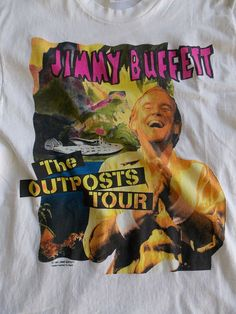 Jimmy Buffet The Outposts  Concert Tour 1991 T Shirt  Anvil Air Margaritaville   #anvil #GraphicTee