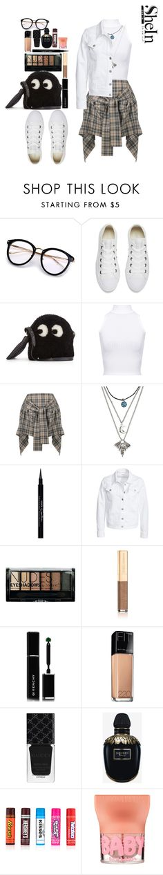 """""""Untitled #401"""" by miss-fairytale ❤ liked on Polyvore featuring Converse, Anya Hindmarch, WearAll, Vivienne Westwood Anglomania, Givenchy, Filippa K, Boohoo, Dolce&Gabbana, Maybelline and Gucci"""