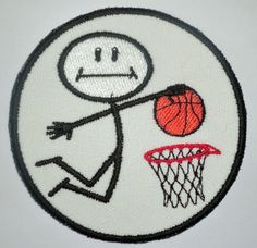 Iron-On Patch  BASKETBALL PLAYER by NancysPatches on Etsy