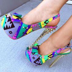 Super Discount Deal! Studded Peep Toe Stilettos