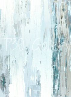 Digital Download  Rain Drops Teal and Beige Abstract by T30Gallery