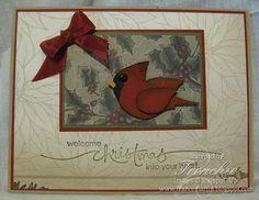 DSP Deck the Hall Christmas Card and Cardinal