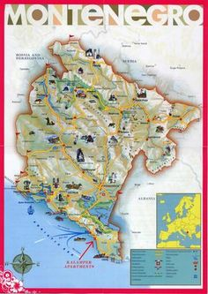 Map Of Montenegro Montenegro Is A Balkan Country With Rugged - Montenegro maps with countries