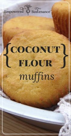 Light and fluffy Coconut Flour Muffins recipe #food #paleo #glutenfree #coconutflour