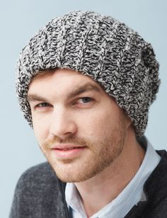 Yarnspirations.com - Bernat Ribbed Hat - Patterns    Yarnspirations