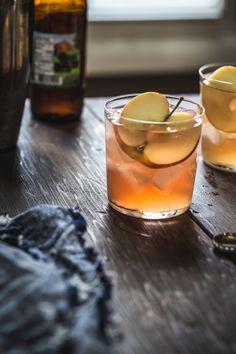 // cranberry apple cider cocktail.