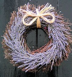 Lavender Willow Wreath