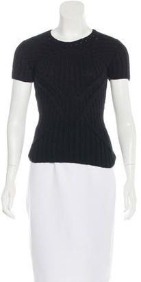 Oscar de la Renta Rib Knit Cashmere Top - Shop for women's tops
