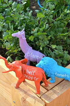 Kid Craft: Safari Animal Garden Markers | The Shopping Mama