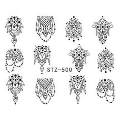 1 Sheet Black Necklace Jewelry Design Water Transfer Sticker Nail Art Decals DIY Fashion Wraps Tips Manicure Tools Water Transfer Nail Art Stickers Size: Packing : 1 Sheet Nail Art Sticker Water Nail Art Sticker Buyer Reading : The shipping takes a. Owl Nail Art, Owl Nails, Stamping Nail Art, Manicure Tools, Nail Art Tools, Nail Art Stickers, Nail Decals, Sticker Paper, Nail Art Hacks