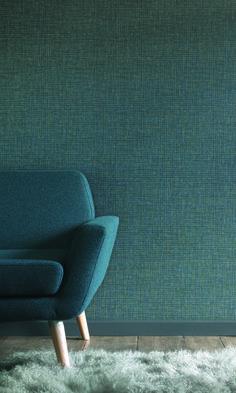 Collection SMART : Élégant, raffiné, intemporel, papier peint, fauteuil, vert, bleu