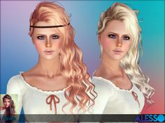 Female hair from child to elder  Found in TSR Category 'Sims 3 Hair Sets'