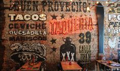 Restaurant interior design is important to get right in your restaurant. Your friendly restaurant branding agency lays out some tips for consideration. Rustic Restaurant Interior, Mexican Restaurant Design, Mexican Interior Design, Mexican Bar, Taco Restaurant, Decoration Restaurant, Mexican Designs, Mexican Restaurants, Pizzeria Design