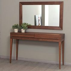 La Viola Décor 213 Plus Club Console Table Top Finish: Walnut Hallway Table Decor, Entrance Table, Entry Tables, Room Decor, Design Club, Entry Furniture, Outdoor Dining Chairs, Home Living Room, Console Table