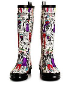 Henri BENDEL GIRL NEW YORK MINUTE WELLIE #ny #fashion #boots #zapatos #botas