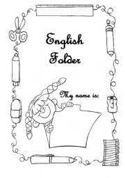 English worksheet: Cover for the English portfolio/folder