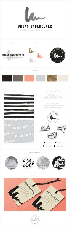 Brand Launch: Urban Undercover - Salted Ink Design Co. | watercolor, hand lettered, hand drawn, brand stylist, brand board, branding, logo design | www.saltedink.com: