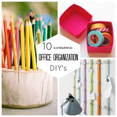 10 Awesome Office Organization DIY'S: Check out these fun and original workspace updates! Organizing Your Home, Organising, Cool Office, Office Organization, My New Room, Craft Activities, Getting Organized, Tricks, Making Ideas