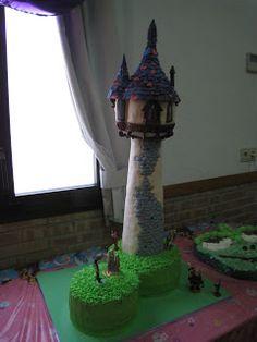 .: Tarta Torre Rapunzel / Tangled Tower Cake