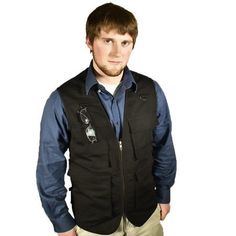 Blue Stone Safety Products Outback Concealment Vest, CCW Vest, Travel Vest, Concealed Carry Vest, Photography Vest, Outdoors Vest, Fishing Vest, Hunting Vest - Black, Medium