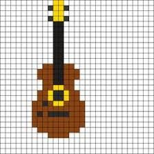 Image result for pattern perler beads guitar