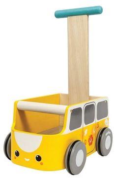 Plan Toys loopwagen van walker geel 1jr+