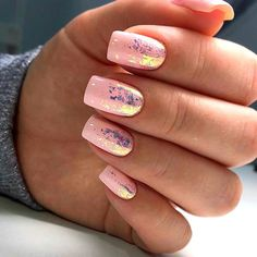 Elegant Nail Designs For Long Nails. Do you want to try your hand at Do-it-yourself nail art but where do you begin? One thing you should do is get some general nail art tools. Foil Nail Designs, Square Nail Designs, Foil Nail Art, Foil Nails, Nails With Foil, Cute Nails, Pretty Nails, Hair And Nails, My Nails