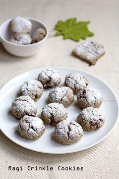 Eggless Ragi Crinkle Cookies With Cardamom Recipe