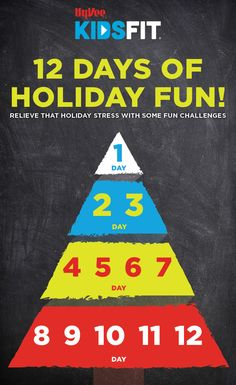 Try these daily movement challenges leading up to your holiday celebration. Add additional movements as the anticipation of your holiday is approaching. Holiday Stress, Holiday Fun, Family Games, Family Activities, Fun Challenges, 12 Days, Some Fun, Celebration, Crafts For Kids